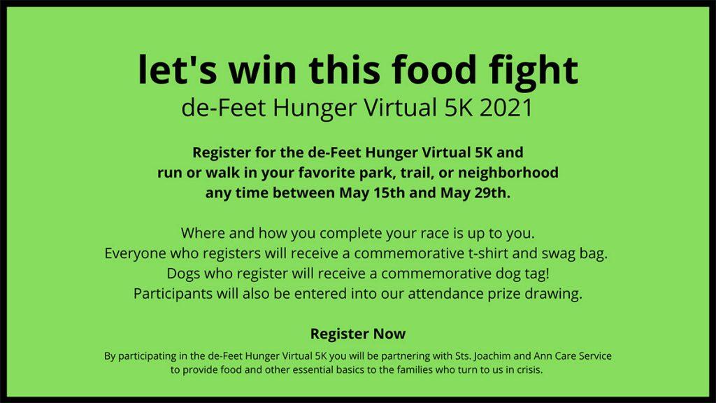 De-Feet Hunger Virtual 5K