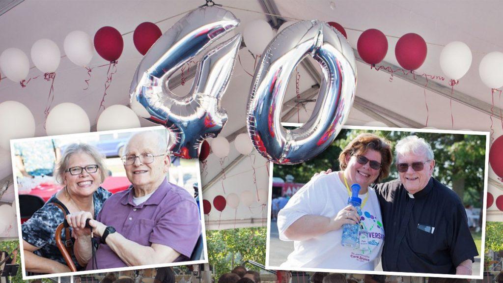 40th anniversary balloon and photos