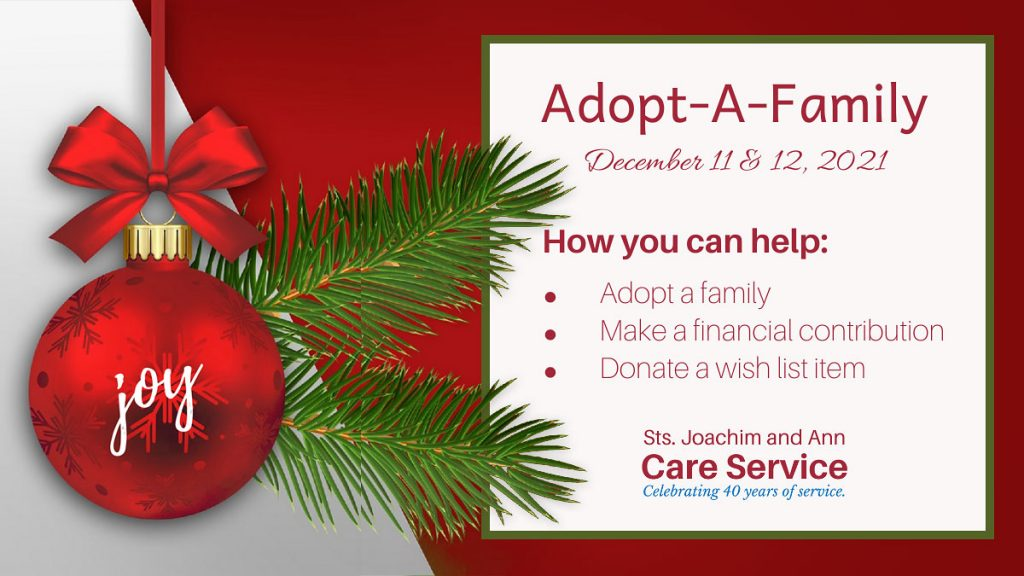 JaCares Adopt-A-Family graphic